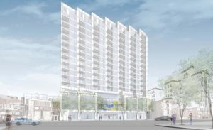 A rendering of the condo coming to Queens.